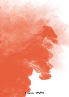 đơn giản là khói màu cam ngất nhuộm nền san hô , Trong Lành, Thuốc Lá, Khói Sương Ảnh nền