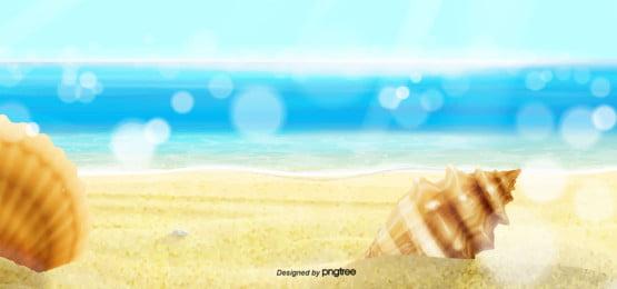 夢想海灘夏天背景 , 夏天背景, 在度假, 沙灘 背景圖片