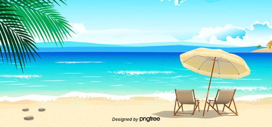 夏季海灘背景 , 商業, 夏季海灘, 夏天背景 背景圖片