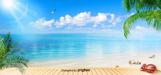 musim panas latar belakang pantai , Musim Panas, Latar Belakang Musim Panas, Langit imej latar belakang