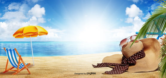 bright summer beach background , Summer Background, Chapéu De Sol, Cadeira De Balanço Imagem de fundo