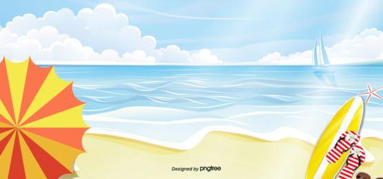 夏季海灘表演背景 , 夏天, 夏天背景, 夏天背景 背景圖片