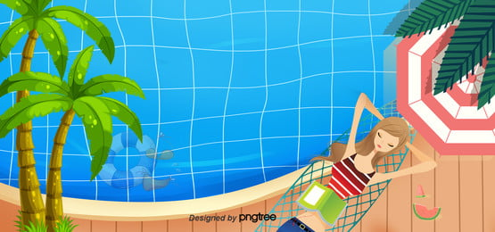 summer underwater background , Summer Background, Coconut Tree, Swimming Pool Background image