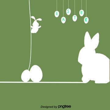 創意線性復活節背景 , 兔子, 卡通, 可愛 背景圖片