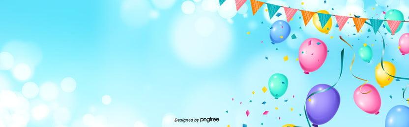 feliz aniversário azul , Fita, Creative Background, Linda Imagem de fundo