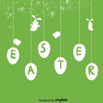 線性卡通復活節背景 , Easter, 兔子, 卡通 背景圖片