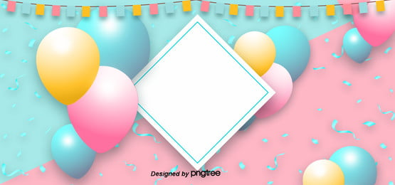 pink create three dimensional happy birthday background , Ribbon, Creative Background, Lovely Background image