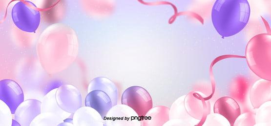 purple stereoscopic happy birthday background , Ribbon, Creative Background, Lovely Background image