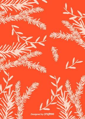 심플한 컨셉 코랄 오렌지 식물 배경 , 하계, 식물, 식물 배경 배경 이미지