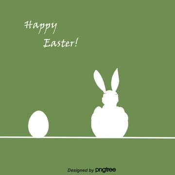 簡約線性復活節背景 , 兔子, 小兔子, 彩蛋 背景圖片