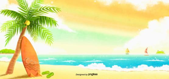 verão  praia  fundo , No Verão, Summer Background, O Mar Imagem de fundo