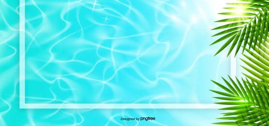 summer sunshine and seawater background , Summer, Summer Background, Leaf Background image