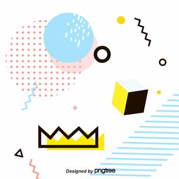 創意的な線の幾何学的メンフィスの背景 , 幾何学, アイデア, アイデアの背景 背景画像