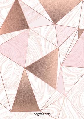 Rose Gold Geometric Edge And Corner Background, Triangle, Geometric, Creative, Background image