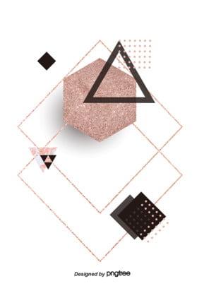 गुलाब गोल्ड ज्यामितीय पृष्ठभूमि , ज्यामिति, गुलाब सोने, पृष्ठभूमि पृष्ठभूमि छवि
