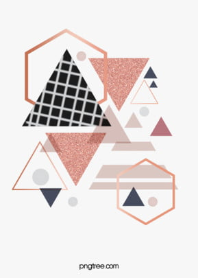 गुलाब गोल्ड ज्यामितीय किनारों और कोनों रचनात्मक पृष्ठभूमि त्रिकोण हेक्सागोनल बॉक्स पृष्ठभूमि छवि