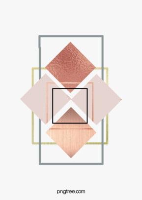 गुलाब गोल्ड ज्यामितीय किनारों और कोनों रचनात्मक पृष्ठभूमि ज्यामिति रचनात्मक सार पृष्ठभूमि छवि