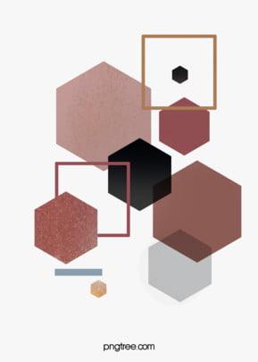 गुलाब गोल्ड ज्यामितीय किनारों और कोनों रचनात्मक पृष्ठभूमि हेक्सागोनल ज्यामिति रचनात्मक पृष्ठभूमि छवि