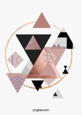 गुलाब गोल्ड ज्यामितीय किनारों और कोनों रचनात्मक पृष्ठभूमि ज्यामिति रचनात्मक दौर पृष्ठभूमि छवि