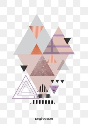 गुलाब गोल्ड ज्यामितीय किनारों और कोनों रचनात्मक पृष्ठभूमि , त्रिकोण, ज्यामिति, रचनात्मक पृष्ठभूमि छवि