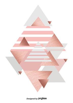 金屬玫瑰金設置背景 , 三角形, 幾何, 灰色 背景圖片