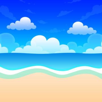 夏日海灘 , 海灘, 夏天, 海邊 背景圖片
