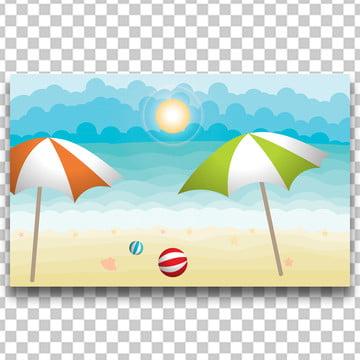 समुद्र तट परिदृश्य कागज कला , 3 डी, सार, साहसिक पृष्ठभूमि छवि