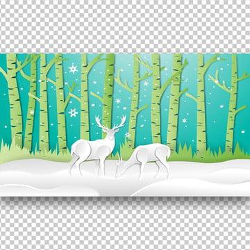 हिरण जंगल में कागज कला , सार, पशु, Antler पृष्ठभूमि छवि