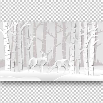 rusa di dalam hutan kertas seni , Abstrak, Haiwan, Antler imej latar belakang