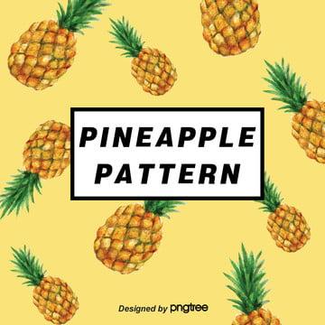 黃色鳳梨水果背景向量素材 , 水果, 向量, 背景 背景圖片