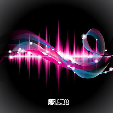 Abstract Vector Shiny Background Design With Sound Waves, Background, Illustration, Graphic, Background image