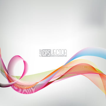 Abstract Vector Shiny Background With Color Wave Design, Background, Illustration, Graphic, Background image