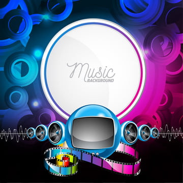 Abstract Vector Shiny Background With Speakers And Futuristic Television, Background, Illustration, Graphic, Background image
