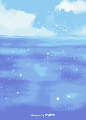 летний морской гофрированный фон , облака, лето, вода Фоновый рисунок