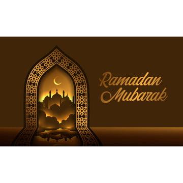 красивый золотой рамы  двери с отражением в геометрический паттерн , 3d, арабская, аравийский Фоновый рисунок