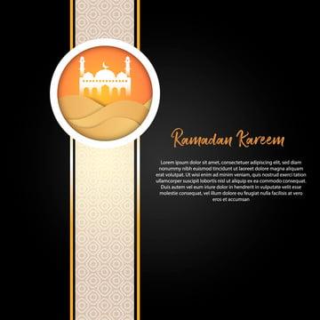 lá bài chào mừng in đen và vàng ramadan kareem , Abstract, Của Người Á Rập, Tiếng Ả Rập. Ảnh nền