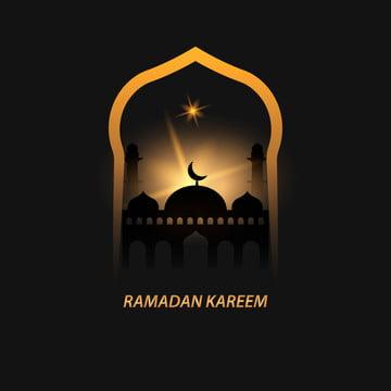 ブラックとゴールドラマダンkareemグリーティングカード , 抄録, アラビアン, アラビア語 背景画像