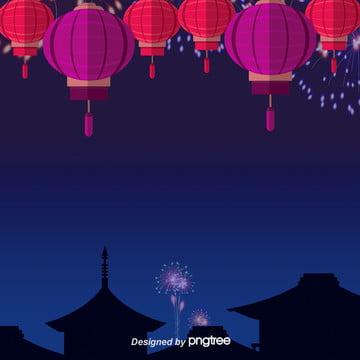 青い夜の花火の背景 , 夏の花火, 夜の夜, 空 背景画像