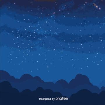 青いシンプルな星空図 , 星, 星空, 青系 背景画像