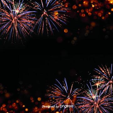 きらびやかで多彩な手描きの色が美しい花火の電気商の背景 , 夜の夜, カラー, 色花火 背景画像