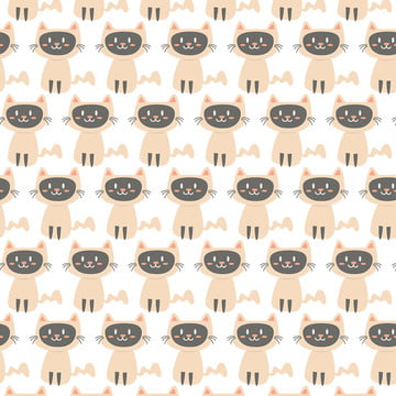 Cute Baby Cat Pattern Vector, Cat, Pattern, Cute, Background image