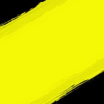 黒い背景に乾いた黄色のブラシストローク , 抄録, 背景, 旗 背景画像