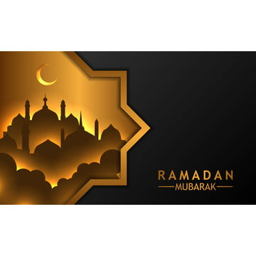 geometric golden frame windows banner black background template , Mosque, Frame, Geometric Background image