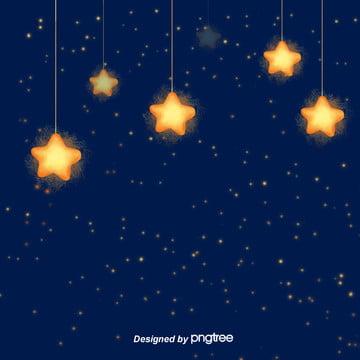美しい星空の夜の癒し系エレクトビジネスのタオバオ背景 , 唯美, 夜の夜, 小さな星 背景画像