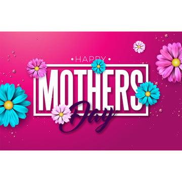 brochura flyer feliz dia das mães desenho de cartões de saudação com flor e letra de tipografia em fundo vermelhomodelo de ilustração de comemoração vetorial para o banner convite poster Abstract Fundo Banner Imagem Do Plano De Fundo