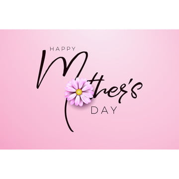Happy Mothers Day Greeting card design with flower and typography letter on pink background  Vector Celebration Illustration template for banner  flyer  invitation  brochure  poster , Mother, Flower, Happy Background image