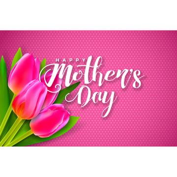 brochura flyer feliz dia das mães cartão de saudação com flor em fundo rosamodelo de ilustração de comemoração vetorial com desenho tipográfico para o banner convite poster Arte Fundo Banner Imagem Do Plano De Fundo