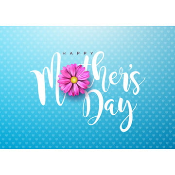 Happy Mother's Day Wishes On Blue Background, Mother, Flower, Background, Background image