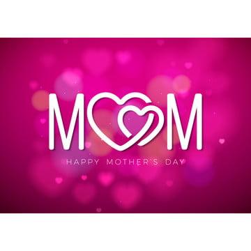 在桃紅色閃爍背景的愉快的母親節願望 , 母親, 花, 快樂 背景圖片