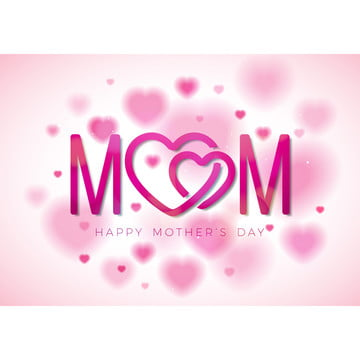 happy mothers day wishes on pink heart background , Mother, Flower, Happy Background image